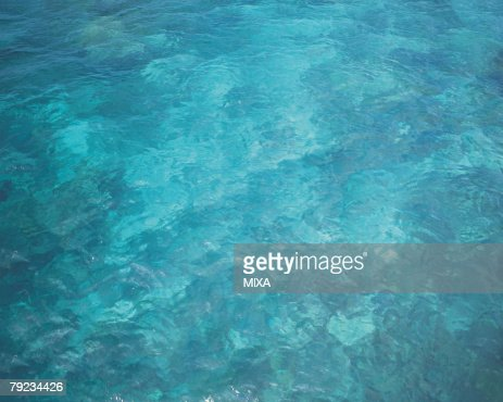 High angle view of the sea, Bali, Indonesia : Stock Photo