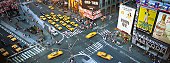 High angle view of traffic in times square in new york