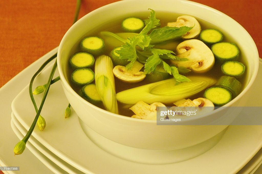 High angle view of vegetables in a bowl : Stock Photo
