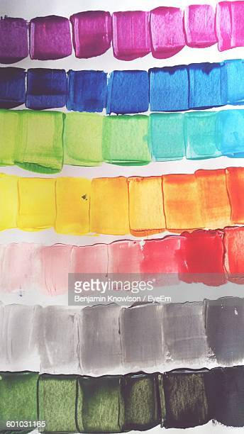 High Angle View Of Watercolor Palette