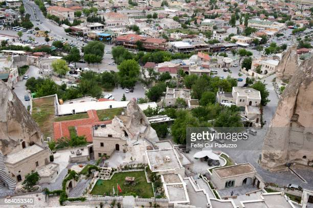 High angle view on the city of Göreme, Turkey