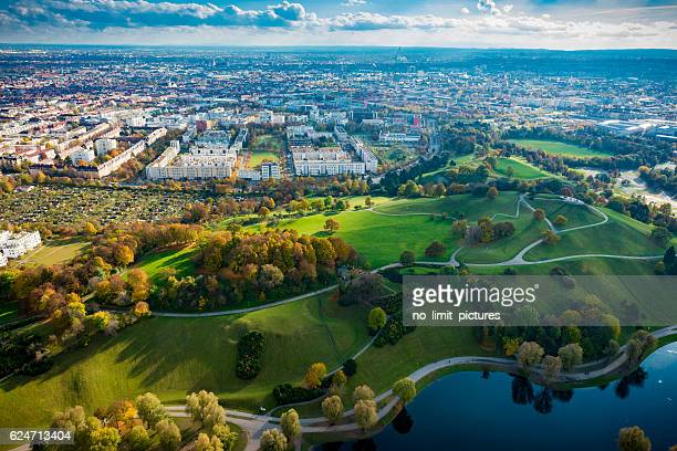 high angle view over Munich
