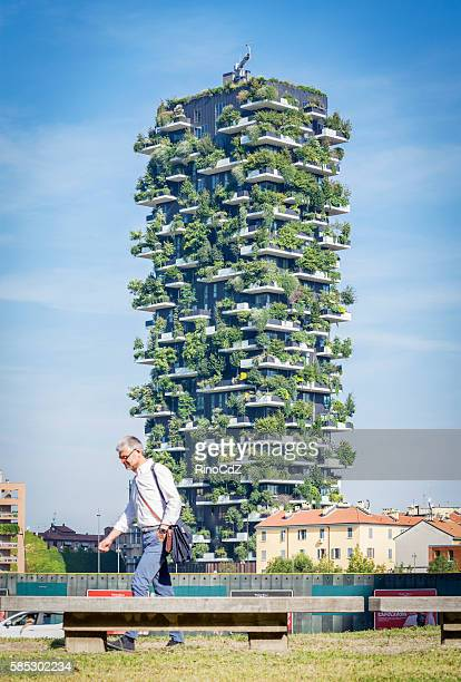 High Building Called Vertical Wood, Milan Italy