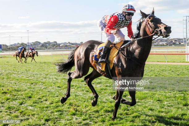 High Church ridden by Damian Lane wins the Sungold Milk Warrnambool Cup at Warrnambool Racecourse on May 04 2017 in Warrnambool Australia