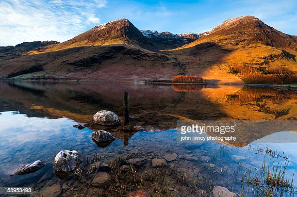 High Crag and High Stile from Buttermere water