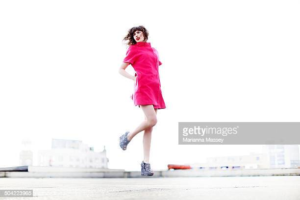 A High Fashion Shoot With A Model