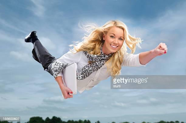 high flying businesswoman