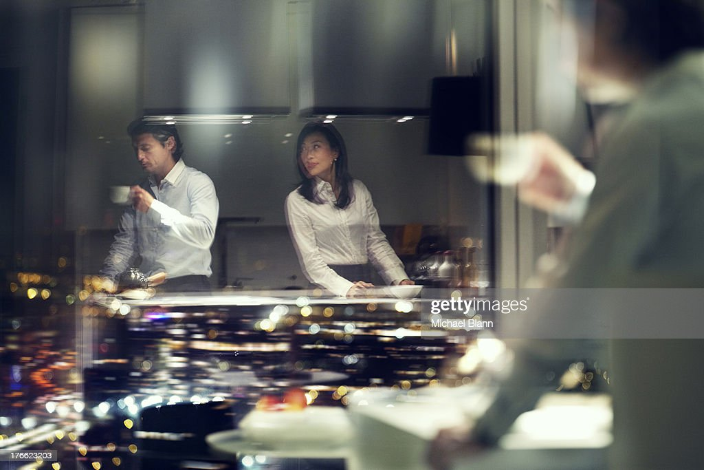 High Flying Executives in City apartment : Stock Photo