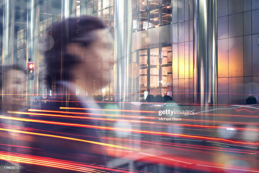 High Flying Executives in City at night : Stock Photo