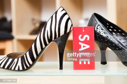 High Heels Shoes Retail Store Display With Sale Sign Hz Stock ...