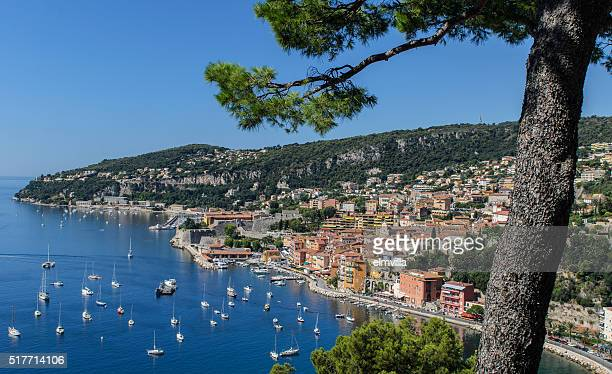High level view of the Bay of Villefranche, Cote d'Azur