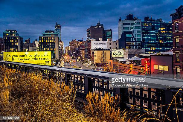High Line Park in winter, New York