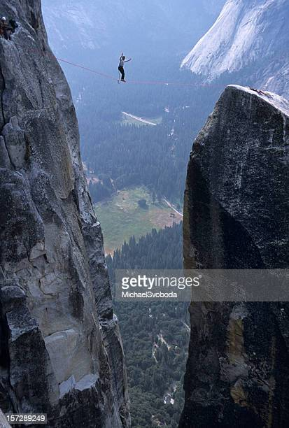 High Lining Over Yosemite Valley