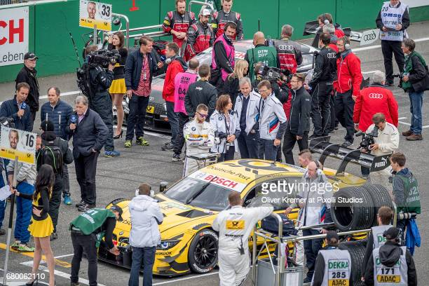 High Media Density at the first row in the start grid prior to the DTM Race 2 at the Hockenheimring during Day 2 of the DTM German Touring Car...