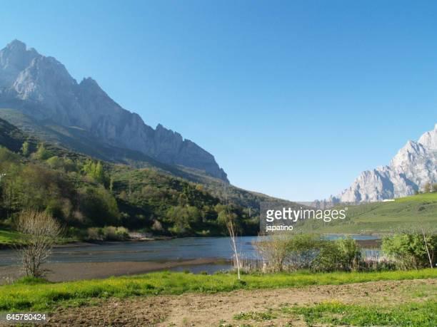 High mountain lake in the Picos de Europa