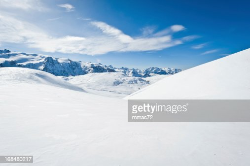High mountain landscape with sun