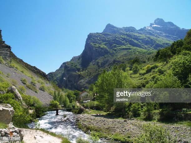 High mountain river in the Picos de Europa