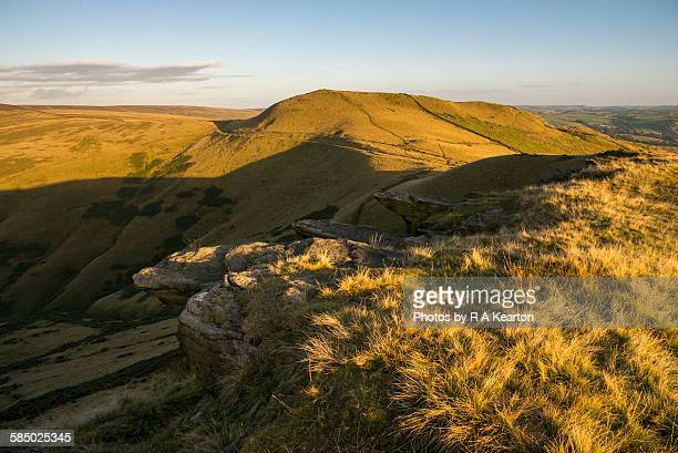 High Peak hills in September sunlight