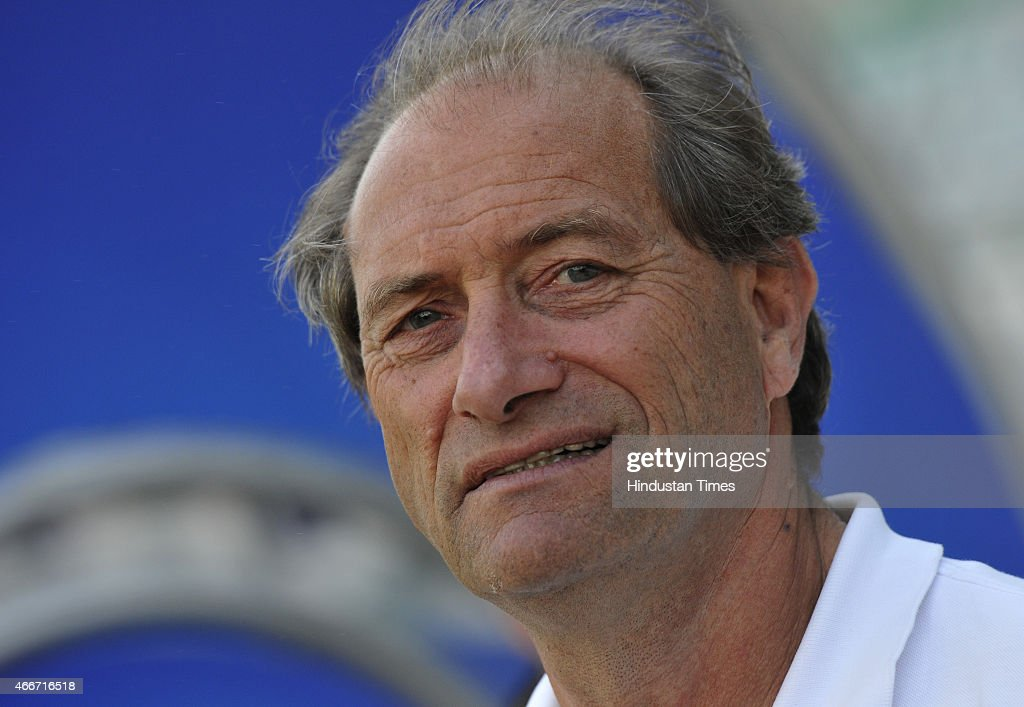 High Performance Director of Indian hockey team Roelant Oltmans during a preparatory camp for Sultan Azlan Shah Cup at the Major Dhyan Chand National...
