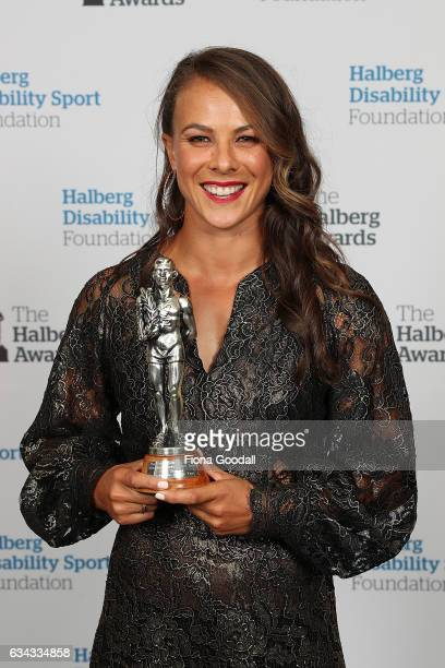 High Performance Sport NZ Sportswoman of the Year Canoeist Lisa Carrington at the 54th Halberg Awards at Vector Arena on February 9 2017 in Auckland...