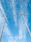 3d render of the pole vault crossbar on blue sky background