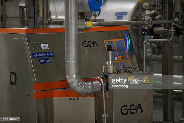 High pressure yeast extract drying machinery manufactured by GEA Brewery Systems GmbH operates at the Royal DSM NV site in Delft Netherlands on...