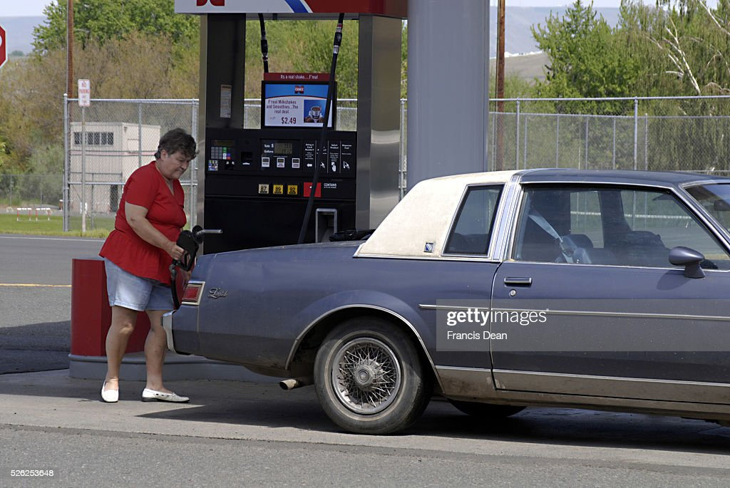 High price billboard unleaded 394 Unl Plus 414 and Diesel 439 and 20 cents High gas prices in Asotin city washington state then Clarkston washington...