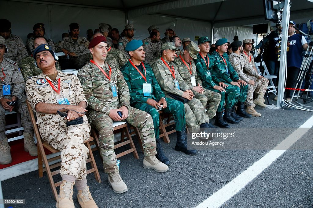 High ranking military officers from different countries are seen during the Efes-2016 Combined Joint Live Fire Exercise at Seferihisar district of Izmir, Turkey on May 30, 2016. The Turkish-led multinational military exercises, Efes-2016 which started at 04 May and will be finished at 04 June 2016, aims to train participating units and staff in planning and conducting combined and joint operations, including logistics and command-control as well as to improve the level of interoperability among headquarters and forces.