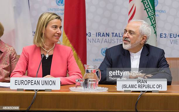 High Representative for Foreign Affairs and Security Policy Federica Mogherini and Foreign Minister of Iran Mohammad Javad Zarif attend last Working...