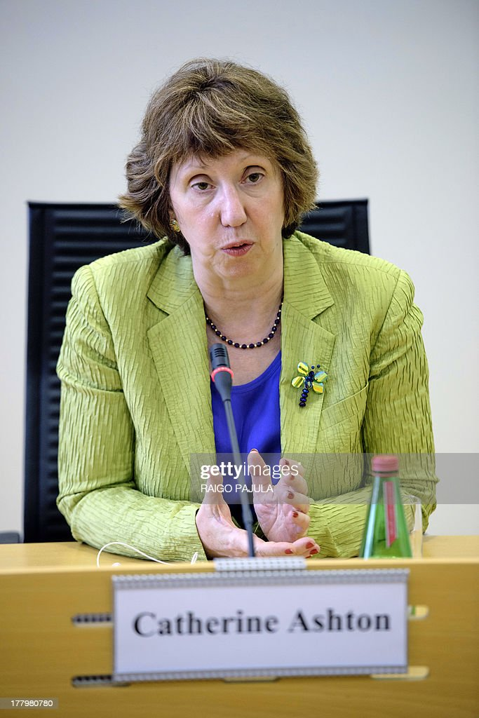 High Representative of the European Union for Foreign Affairs and Security Policy Catherine Ashton gives a joint press conference with the Estonian...