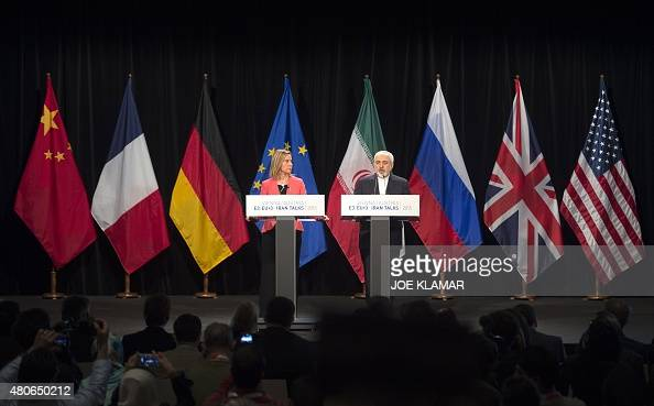 High Representative of the European Union for Foreign Affairs and Security Policy Federica Mogherini and Iranian Foreign Minister Mohammad Javad...