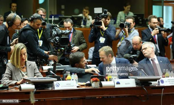 High Representative of the European Union for Foreign Affairs and Security Policy Federica Mogherini Prime Minister of Netherlands Mark Rutte and...