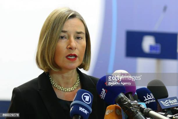 High Representative of the European Union for Foreign Affairs and Security Policy and VicePresident of the European Council Federica Mogherini speaks...
