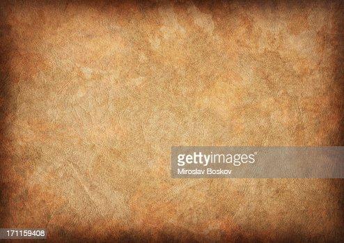 High Resolution Ancient Animal Skin Parchment Vignette Grunge Texture