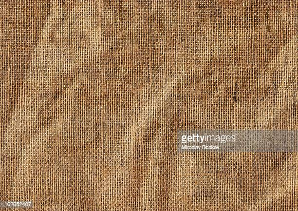 High Resolution Antique Jute Canvas Wrinkled Grunge Texture