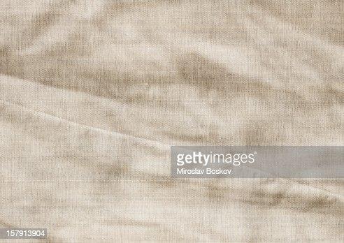 High Resolution Artist's Linen Canvas Crumpled Grunge Texture