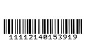 High resolution bar code isolated on white.