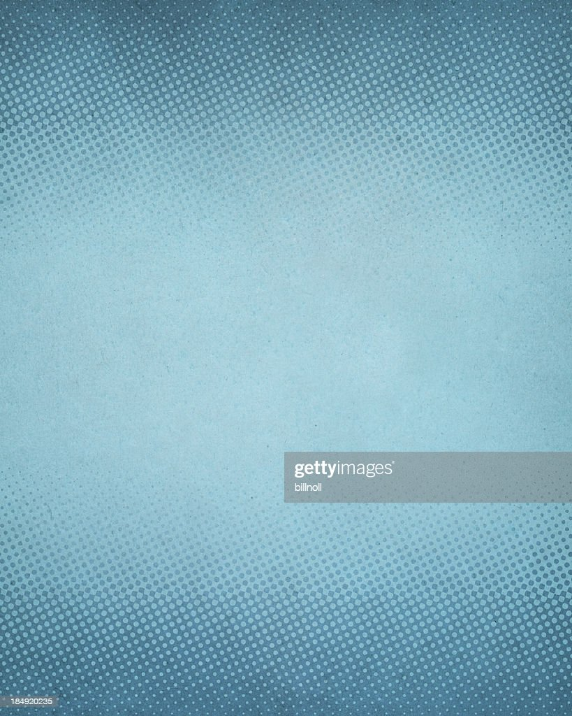 High resolution blue antique paper with halftone : Stock Photo