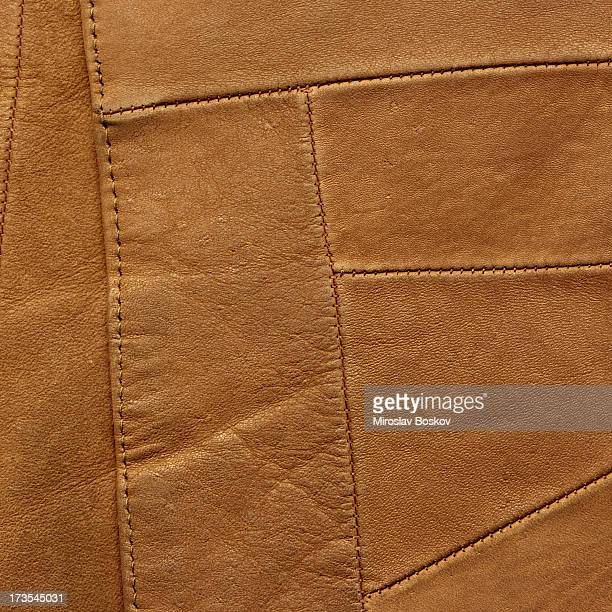 High Resolution Brown Leather Patchwork Texture Sample
