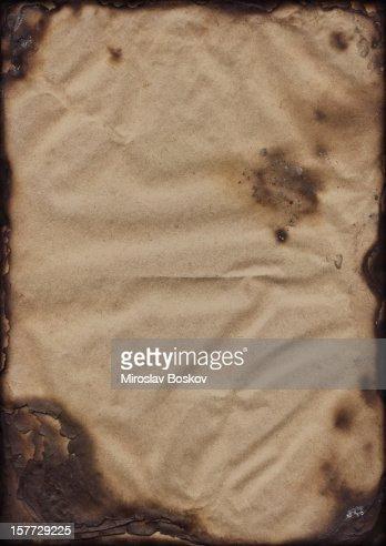 High Resolution Burnt Paper Sheets Vignette Grunge Texture