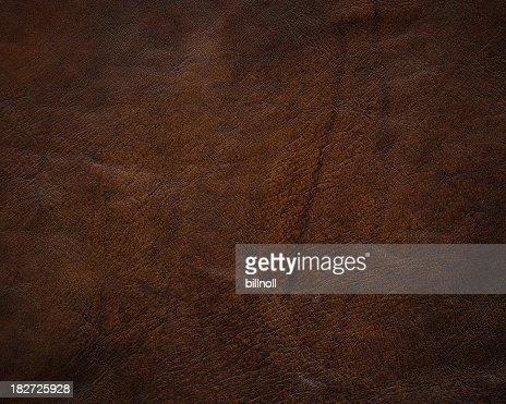 High resolution dark brown leather texture