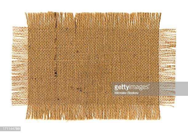 High Resolution Jute Fabric Frayed Grunge Sample