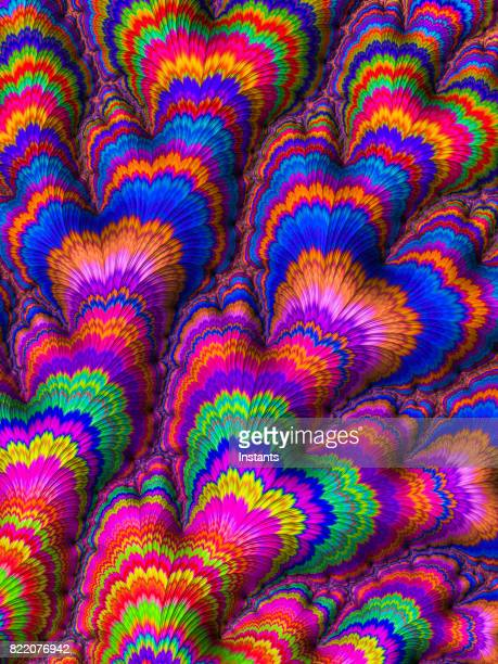 High resolution multi-colored fractal background, which patterns remind those of a flower bouquet.