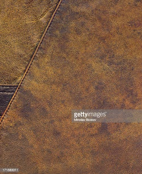 High Resolution Old Brown Sheepskin Patchwork Grunge Texture