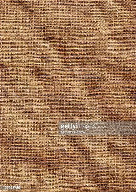 High Resolution Old Jute Coarse Grain Wrinkled Canvas Texture