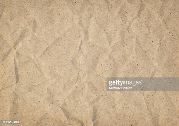 High Resolution Old Recycle Kraft Paper Crushed Grunge Texture