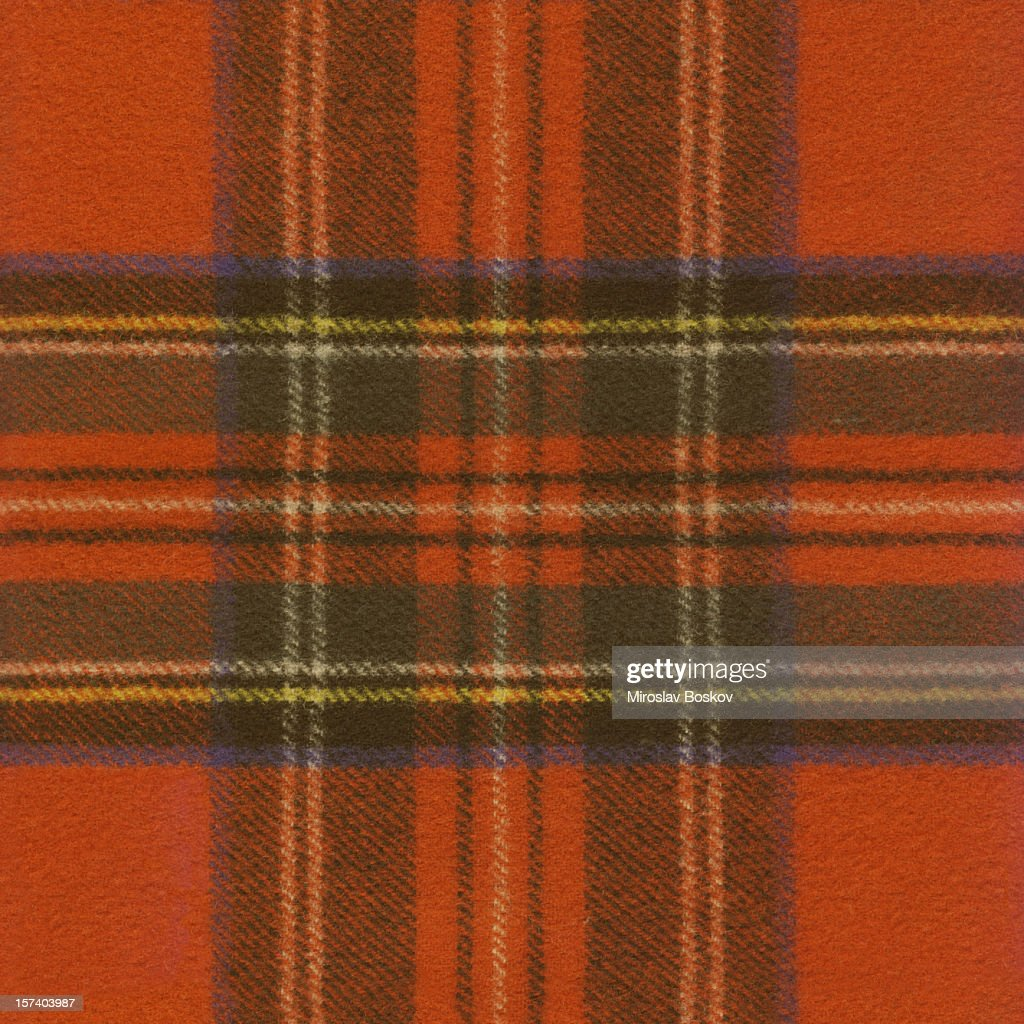 High Resolution Red Tartan Fabric Pattern Sample