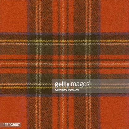High Resolution Red Tartan Fabric Pattern Sample