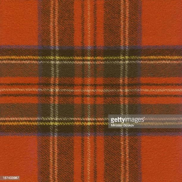 Haute résolution motif Tartan rouge Prélèvement de tissu