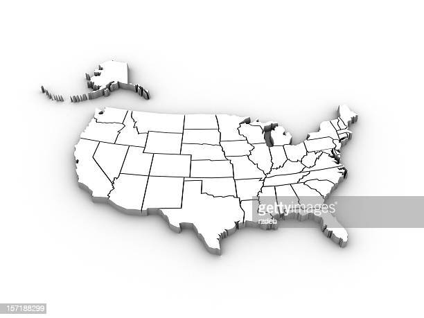 USA high resolution rendered map